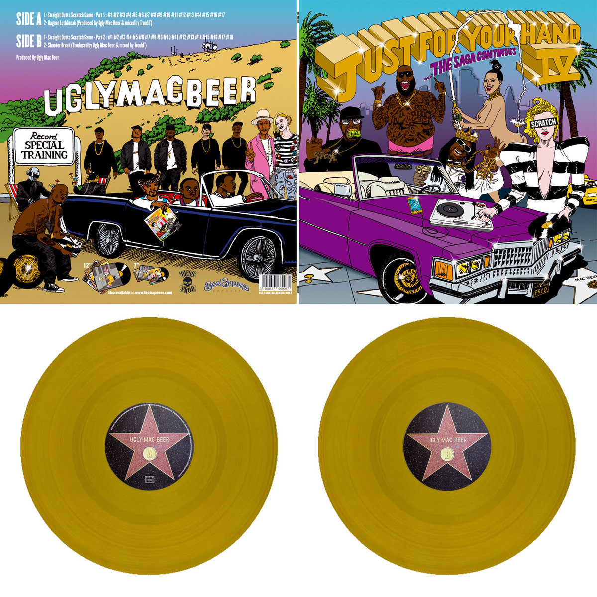 JUST FOR YOUR HAND VOL 4 LP   BEATSQUEEZE RECORDS