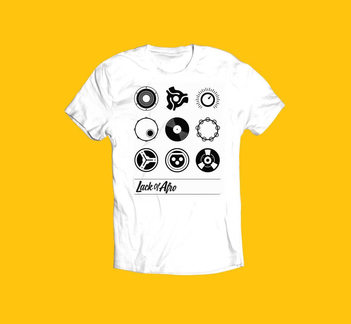 c506d5bc938 Lack of Afro  Symbols  Black on White T-shirt main photo