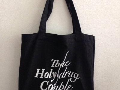 'THE HOLYDRUG COUPLE' BLACK LINEN LIMITED EDITION TOTE BAG main photo