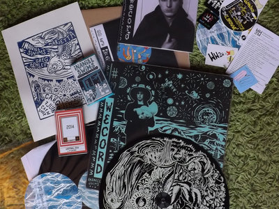 """""""Inaniel / Sorry Sorrow Swims"""" bundle (2 x12"""" + 2 x 7""""s + 2 cassettes + a silkscreen of a concert poster....) main photo"""