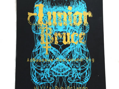 "JUNIOR BRUCE ""Creep Blue Sea"" Limited Ed. Bryan Raymond Benefit Screen Printed Poster main photo"