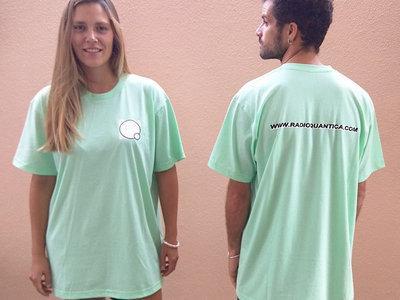 Rádio Quântica t-shirt - Mint main photo