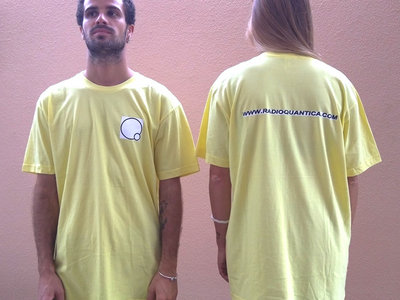 Rádio Quântica t-shirt - Yellow main photo
