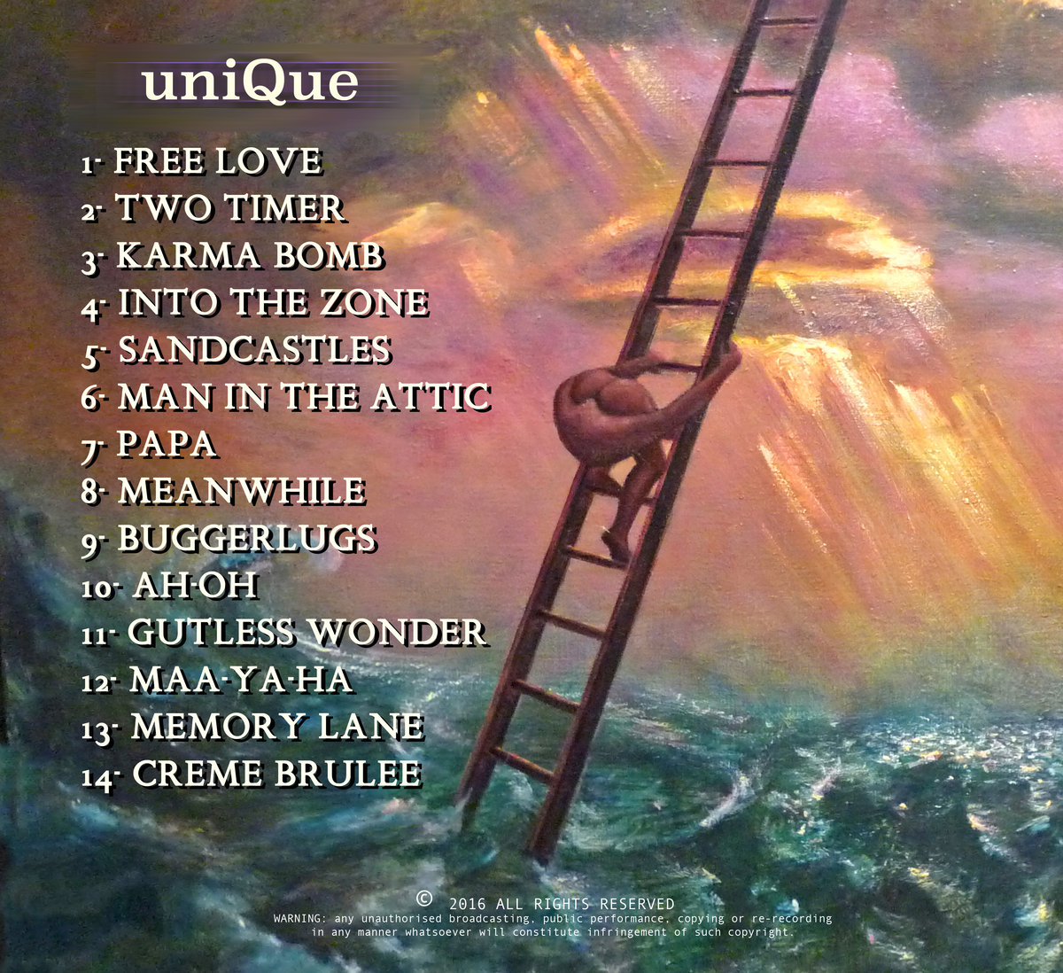 UniQue ~ 2016 solo album | Phil Judd
