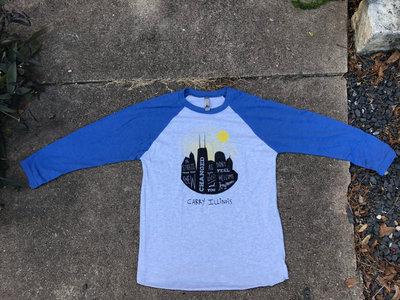 Chicago/Evanston Skyline Baseball Tee! main photo