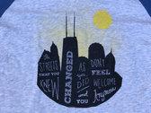 Chicago/Evanston Skyline Baseball Tee! photo