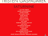ORDER NOW! TRISTEN GASPADAREK'S  SATURNINE Volume One of CTR Press' Pocket Poetry Series 2nd Printing w/foreword by Ezra Furman photo