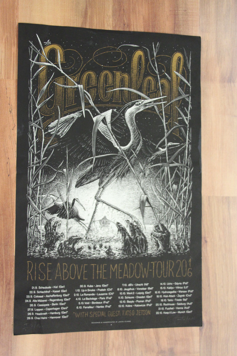 Silkscreen Poster (Rise Above The Meadow Tour 2016) | Greenleaf