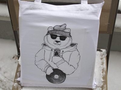 Breaks & Beats Podcast Bear tote bag main photo