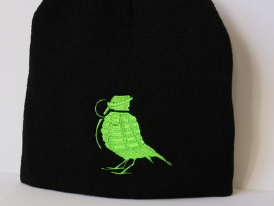 Beanie Dope Green On Black (FREE POSTAGE) main photo