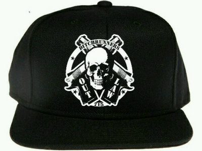 Limited edition. All black outlaw n pistols snapback custom rips. main photo