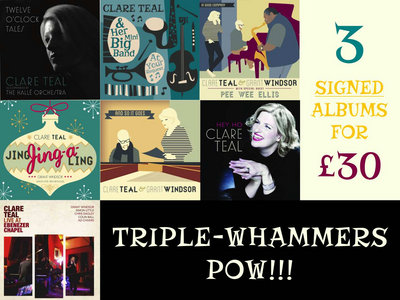 TRIPLE WHAMMERS OFFER - THREE CD BUNDLE SIGNED & DEDICATED BY CLARE - JUST FOR YOU X main photo