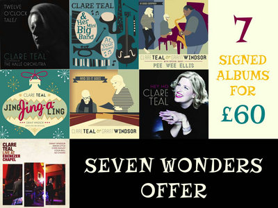 SEVEN WONDERS OFFER - SEVEN CD BUNDLE SIGNED & DEDICATED BY CLARE main photo