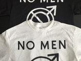No Men symbol t-shirt in WHITE photo
