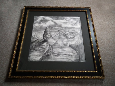 Tribulation of Norma - The original drawing with a noble custom made frame main photo