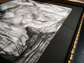 Tribulation of Norma - The original drawing with a noble custom made frame photo