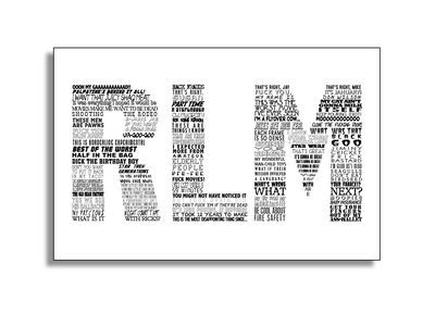 RLM Typography art poster main photo