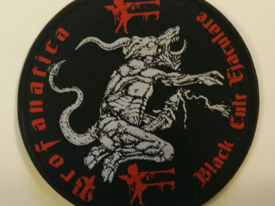 Black cult ejaculate round embroidered patch main photo