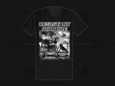 "Black ""Warning"" t-shirt main photo"