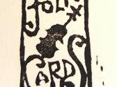 "SOLD OUT Handmade ""Folk Card"" photo"