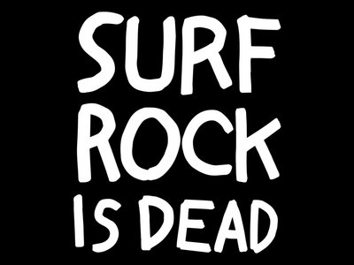 """Surf Rock is Dead"" Print T-Shirt - Black main photo"