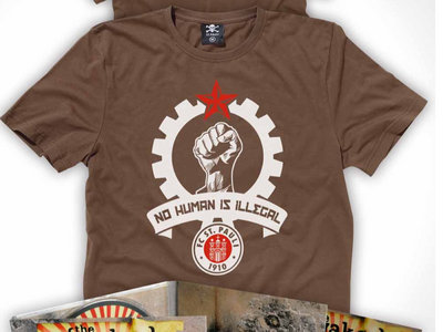 Official FC St Pauli / The Wakes - No Human Is Illegal tshirt main photo