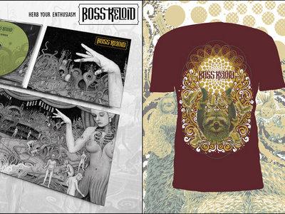Herb Your Enthusiasm CD 6 Panel Digipak + T-Shirt (Sun Sloth Design MAROON) + Patch Bundle main photo
