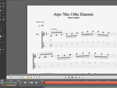 Diatonic Arpeggio Extensions, 7ths-13ths main photo