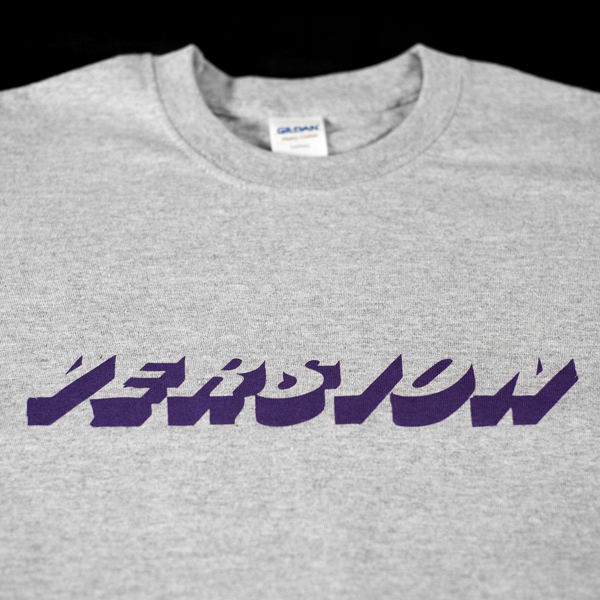 ... VERSION t-shirt 001 (purple/grey) photo