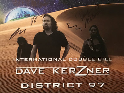 **Signed** DKB New World Live MANCHESTER Poster (Limited Edition) main photo