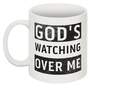 God's Watching Over Me Coffee Mug main photo