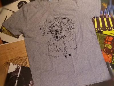 "Dead Arms ""PISS"" T-Shirt (Grey) main photo"