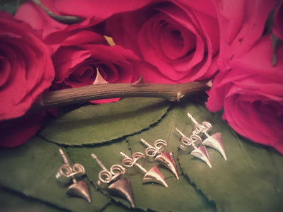 Every Rose has its Thorn SILVER Stud Earring - Single Small *Robyn Chaos Jewellery* main photo