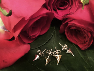 Every Rose has its Thorn SILVER Stud Earrings PAIR (SMALL) *Robyn Chaos Jewellery* main photo