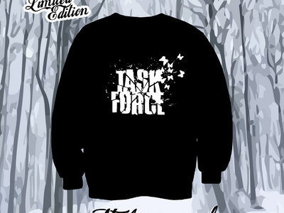 TASK FORCE - Black Sweatshirt with White Logo main photo