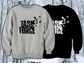 TASK FORCE - Black Sweatshirt with White Logo photo
