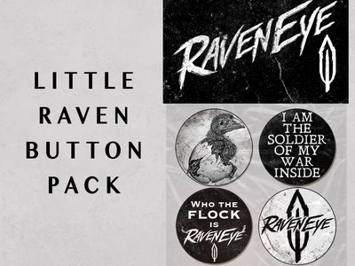 """Little Raven"" Button Pack main photo"