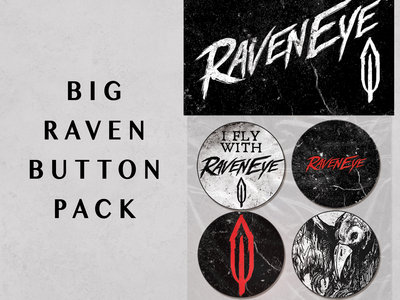 """Big Raven"" Button Pack main photo"