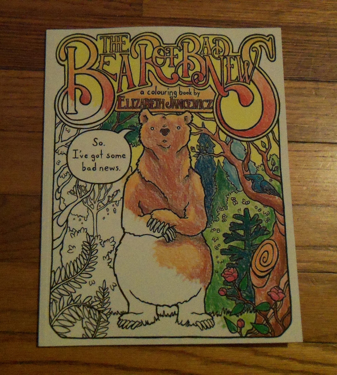 The coloring book vinyl -  The Bear Of Bad News Coloring Book Comic Book Main Photo