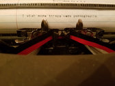 Typewriter Poem photo