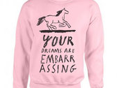 YOUR DREAMS ARE EMBARRASSING jumper photo