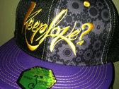 GrassrootsCalifornia X Keeplove? x Folkstep Hemp/Leather Strapback photo