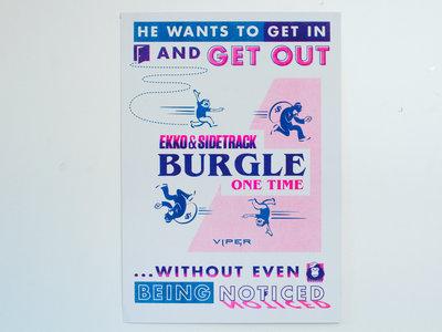 """Burgle"" Limited Edition 2 Colour Risograph Print main photo"