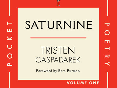 ORDER NOW! TRISTEN GASPADAREK'S  SATURNINE Volume One of CTR Press' Pocket Poetry Series 2nd Printing w/foreword by Ezra Furman main photo