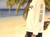 Longsleeve _ White _ Feel The Future (unisex) / LIMITED EDITION photo