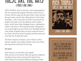 These Are The Days - Stories and Songs by Mick Thomas - Book photo