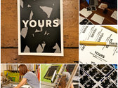 Yours - 'Hard To Speak' - Limited Edition Screen Print photo