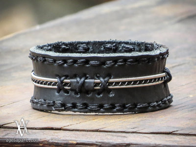 Strung-Up AA Leather Bracelet (#CLS165) w/ FREE Album Download main photo