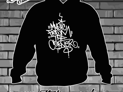 MUSIC FROM THE CORNER - BLACK HOODY with WHITE LOGO main photo
