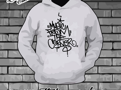 MUSIC FROM THE CORNER - GREY HOODY with BLACK LOGO main photo